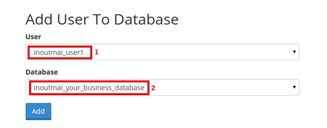 Assign user to the database